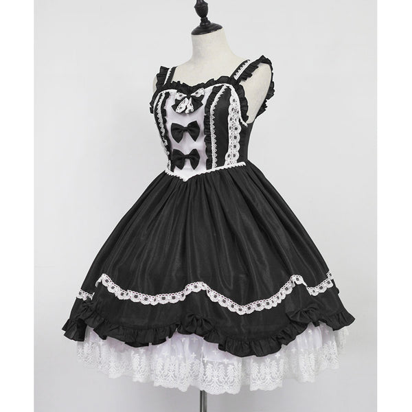 The Dance ~ Contrast Color Sleeveless Lolita JSK Dress by Soufflesong