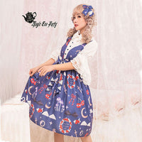 The Little Devil ~ Sweet Short Flare Sleeve White Lolita Blouse by Magic Tea Party