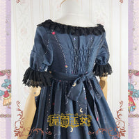 Garden in Fairy-tale ~ Sweet Printed Short Sleeve Lolita Dress by Strawberry Witch