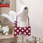 Sweet Dotted Cross Body Bag Bowknot Shaped Lolita Bag by Alice Girl ~ Pre-order