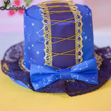 Blue Constellation LOLITA Mini Top Hat Sweet Bow Hair Pin