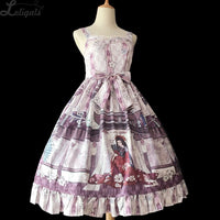 Bamboo's Whispering ~ Retro Han Style Printed Lolita JSK Dress by Infanta