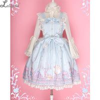 Fantasy Cosmetics Sweet Sky Blue Printed Lolita JSK Dress by Diamond Honey