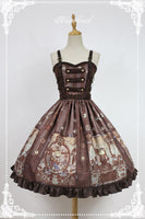 Steampunk Cat Lolita JSK Dress with Metal Buttons by Soufflesong