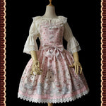 The Bear Nurse ~ Sweet Lolita JSK Dress Printed Salopette Dress by Infanta