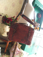 Steampunk Style Lolita Handbag Brown Satchel Bag with Gear Decor by Infanta