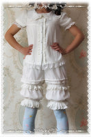 Classic White Lolita Shorts Ruffled Lolita Bloomers by Infanta