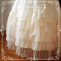 Sweet Asymmetrical Lolita Underskirt Mesh Extension Long Skirt