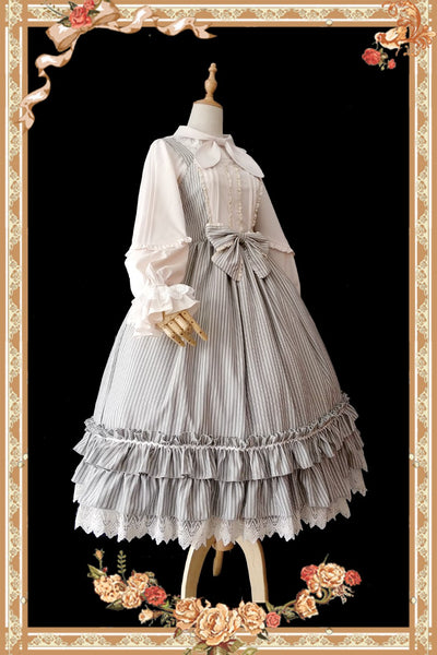 Little Women ~ Classic Striped Lolita JSK Dress by Infanta ~ Pre-order