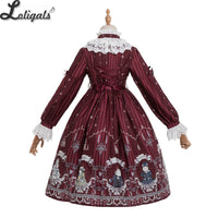 Rose Knights ~ Sweet Printed Lolita Dress Long Sleeve Midi Party Dress by Magic Tea Party