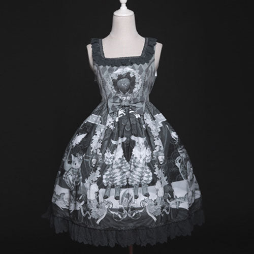The Bizarrerie ~ Gothic Lolita Dress Vintage Short Dress by Diamond Honey