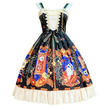 Mechanical heart ~ Vintage Sleeveless Dress Lolita Printed JSK Dress