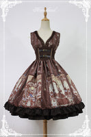 Steampunk Cat ~ Punk Corset Dress Printed Empire Lolita Dress by Soufflesong