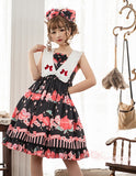 The Peach ~ Sweet Printed Lolita Casual JSK Dress by Magic Tea Party ~ Pre-order