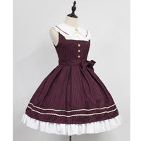 Classic Sailor Style Lolita JSK Dress Idol Academy Striped Short Dress by Soufflesong