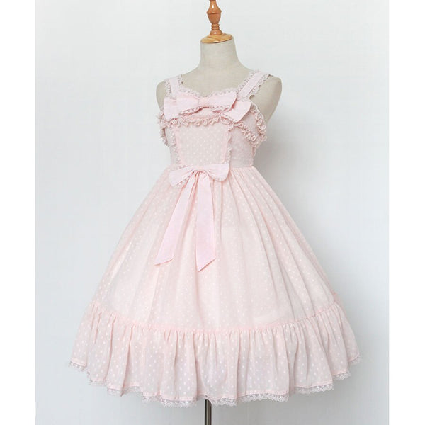 Anne's Present ~ Sweet Sleeveless Lolita Empire Waist Spotted Dress by Soufflesong