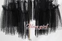 Gothic Black Ruffled Waist Curtain Vintage Mesh Overlay Skirt Pre-order by Alice Girl