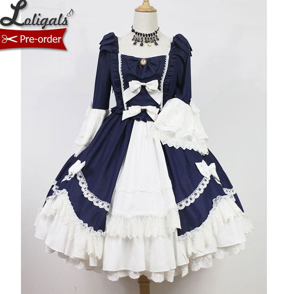 The Dance ~ Sweet Flare Sleeve Lolita OP Dress with Layered Ruffles by Soufflesong