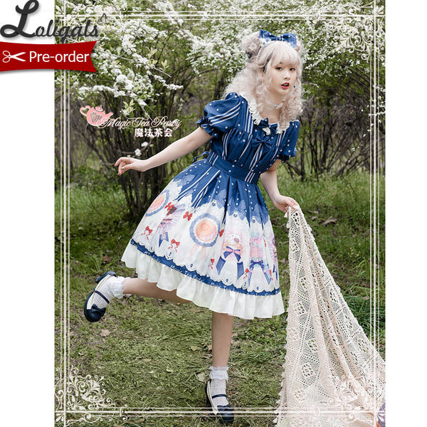 The Baking Award ~ Sweet Short Sleeve Party Dress Printed Lolita Dress