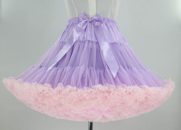Colorful Women's Tutu Skirt Adult Tulle Ballet Dance Costume Fluffy Short Petticoat