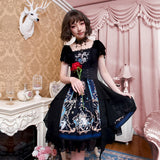 The Redemption of God ~ Gothic Printed Short Sleeve Lolita Dress by YLF