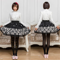 Classic Zodiac Sign Printed Short Skirt Mori Girl Mini Skirt for Summer Four Colors