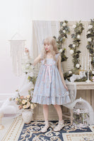 Kitten in the Frame ~ Sweet Printed High Waisted Casual Lolita Dress by Alice Girl ~ Pre-order