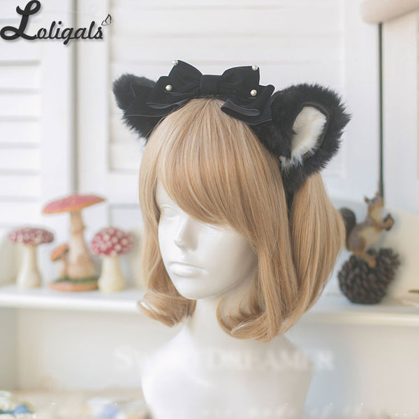 Lovely Meow Cat Ear Headpiece Gothic Hairband Lolita Accessories