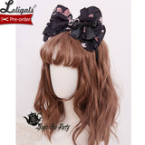 Chocolate Bunny ~ Sweet Lolita Hair Bow Hairpin by Magic Tea Party ~ Pre-order