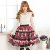 Lolita Sweet Princess Alice's Tea Party Series Short Skirt with Lace Trimming for Girl