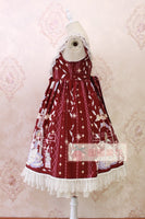 Sweet Lolita Casual Dress ~Angel's Book Printed Midi Dress by Alice Girl ~ Pre-order