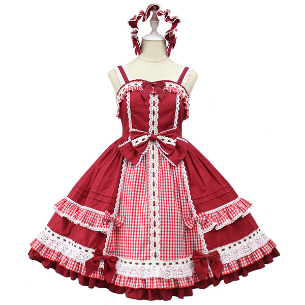 Margaery's Afternoon Tea ~ Classic Plaid Lolita JSK Dress by Alice Girl Pre-order
