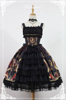 The Magic Night of Museum Series Front Open Lolita Dress by Soufflesong