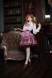 The Chocolate Bear ~ Sweet Printed Short Lolita Skirt by Soufflesong