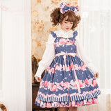The Peach ~ Sweet Printed Princess Casual Lolita JSK Dress by Magic Tea Party ~ Pre-order