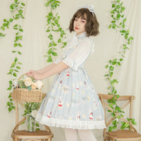 The Choir ~ Sweet Half Sleeve Printed Lolita Party Dress by YLF