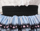 Sweet Original Design Cookies Printed Girl's Pleated Skirt Princess Lolita Lace Skirt for Women