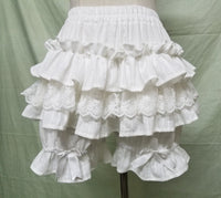Cute Black/White Lolita Shorts Lace Ruffled Elastic Waist Cotton Bloomers