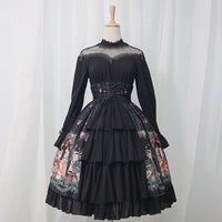 Merry Christmas ~ Long Sleeve Illusion Neck Lolita Party Dress