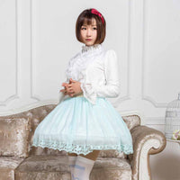 2019 Glittering Short Skirt Cute Mori Girl Skirt for Summer Mint Green/Pink/Lavender