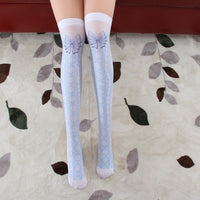 Sweet Printed Lolita Long Stockings Cute Mori Girl Thigh High Tights