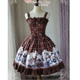The War of Thorn ~ Sweet Printed Lolita Sleeveless JSK Dress by Magic Tea Party