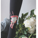 Japanese Style Mori Girl Printed Tights 120D Velvet Pantyhose