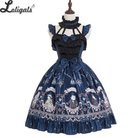 Rose Knight ~ Sweet Printed Lolita JSK Dress Halter Neck Party Dress by Magic Tea Party