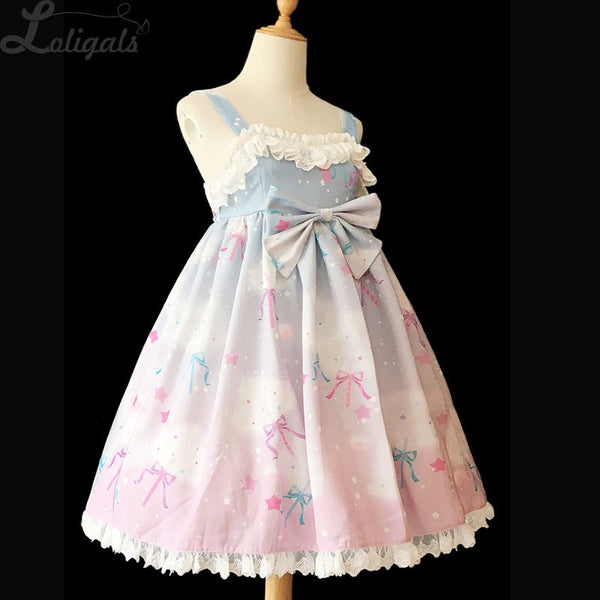 Rainbow & Cotton Candy ~ Sweet Printed Lolita JSK Dress & KC by Infanta
