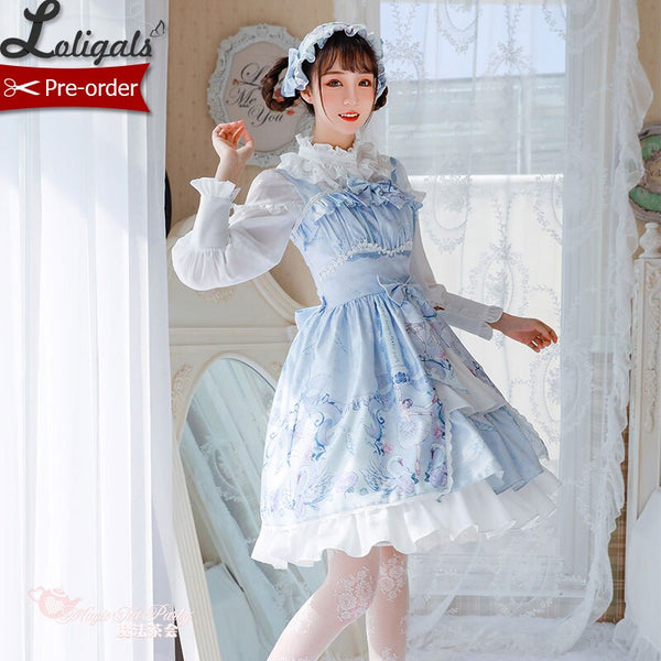 Swan Lake ~ Sweet Printed Lolita JSK Dress by Magic Tea Party