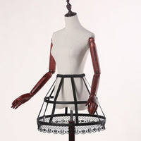 Full Circle Steel Boned Short Crinoline Birdcage Petticoat Sweet Hoop Skirt by Classical Puppets