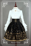 Soufflesong Swan Lake Black High Waist Printed Lolita Skirt for Lady