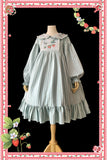 Strawberry ~ Printed Casual Long Sleeve Striped Lolita Dress by Infanta