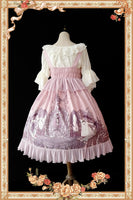 Nightmares of The Witch ~ Sweet Printed Lolita JSK High Waist Dress by Infanta